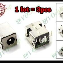 3 х ноутбук Разъем питания постоянного тока для hp Compaq NC6220 NC6230 NC8000 NW8000 NX5000 Presario V1000 без кабеля-PJ032-1.65mm
