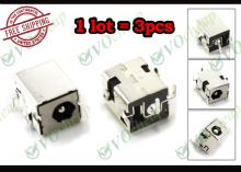3 x Laptop DC power jack for HP Compaq NC6220 NC6230 NC8000 NW8000 NX5000 Presario V1000 without cable - PJ032-1.65mm
