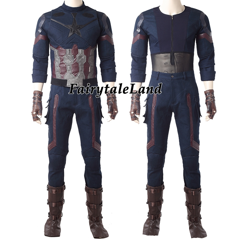 Image 3 - Avengers Infinity War Captain America Cosplay Costume Carnival Halloween costumes Superhero Steve Rogers Captain America Suit-in Movie & TV costumes from Novelty & Special Use