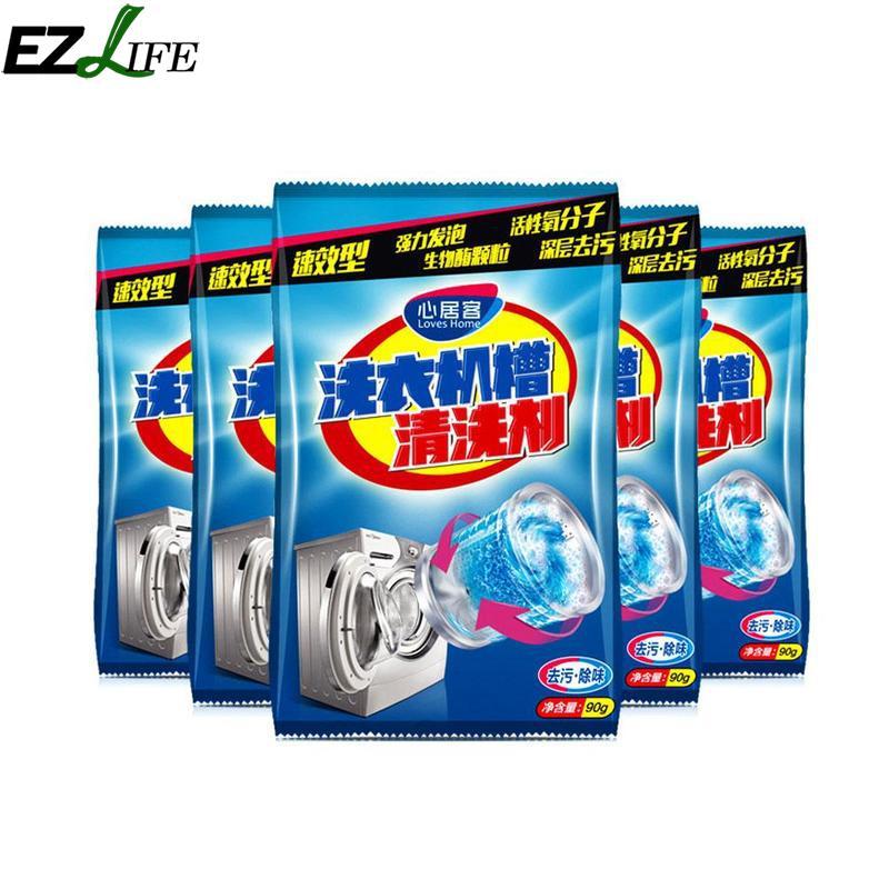 Kitchen Washing Machine Cleaner Supplies Effective Decontamination Washing Machine Tank Cleaning Agent Bag SQQ2555