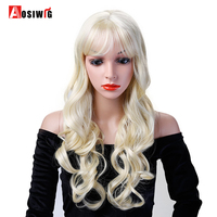 613 Long Wavy Curly Wigs Synthetic Hair Heat Resistant Costume Halloween Party Cosplay Wigs For Black