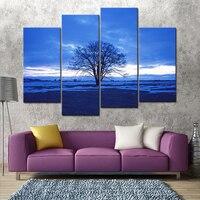 Các Tree trong Hoàng Hôn Đồng Bằng Phong Cảnh Trang Trí Nội Thất Hình Ảnh HD Giclee Canvas In Modern Cảnh Tường Nhà Nghệ Thuật Trang Trí hình ảnh