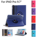 Для Apple iPad Pro 9.7 Случае ТПУ + Кожаный Флип Tablet 360 Вращающийся книга Стенд Крышку с карты держатель для iPad Pro 9.7 Случае + пленка