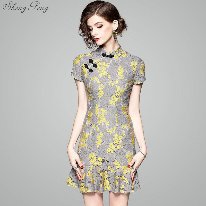 Chinese traditional dress women modern cheongsam female chinese dress qipao traditional chinese clothin CC522 ...