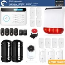 Chuangkesafe S4 eTIGER GSM/PSTN Sistema de Alarma Antirrobo Para El Hogar/Oficina WiFi HD720P Cámara de INFRARROJOS de Doble Haz infrarrojos