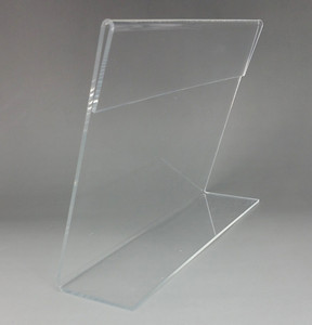 Image 3 - الجملة واضح T2mm A4 A5 البلاستيك الاكريليك تسجيل عرض عرض ورقة تعزيز مفارش طاولة بألوان متعددة تسمية أصحاب L حامل أفقي 500 قطعة