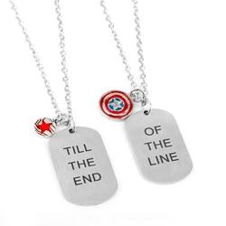Ожерелье из нержавеющей стали для мужчин и женщин, популярное ожерелье с изображением героев фильма мстители США капитан Стив Зимний Солда...