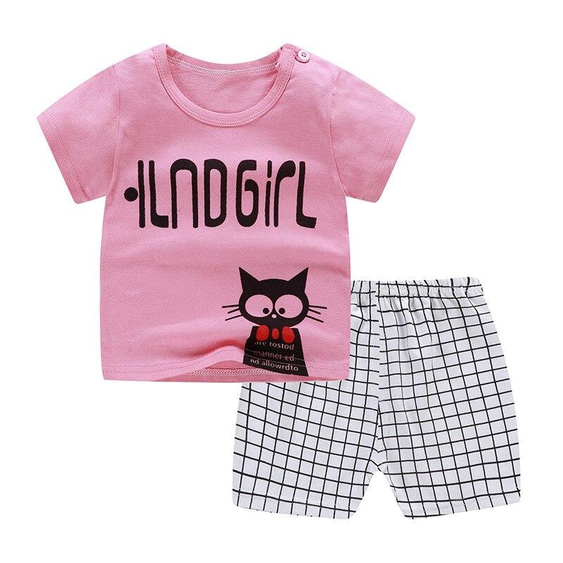 Летние комплекты модной одежды для маленьких мальчиков, футболка с короткими рукавами + шорты, красивая одежда для маленьких девочек