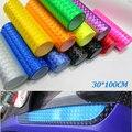 12 colores Del Ojo de Gato 30 cm * 100 cm Auto Car Styling Faros Stiker Calcomanías para Automóviles Adesivos Párr Carros Coche Película de la luz trasera Pegatinas