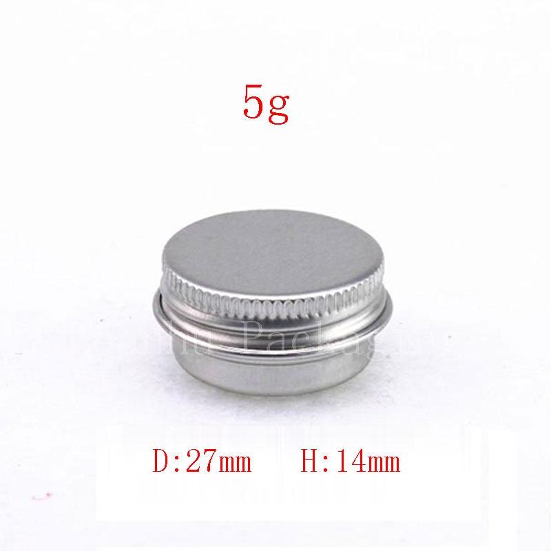 200pcs lot 5g mini aluminum jar cream cream sample tin for Small tin containers