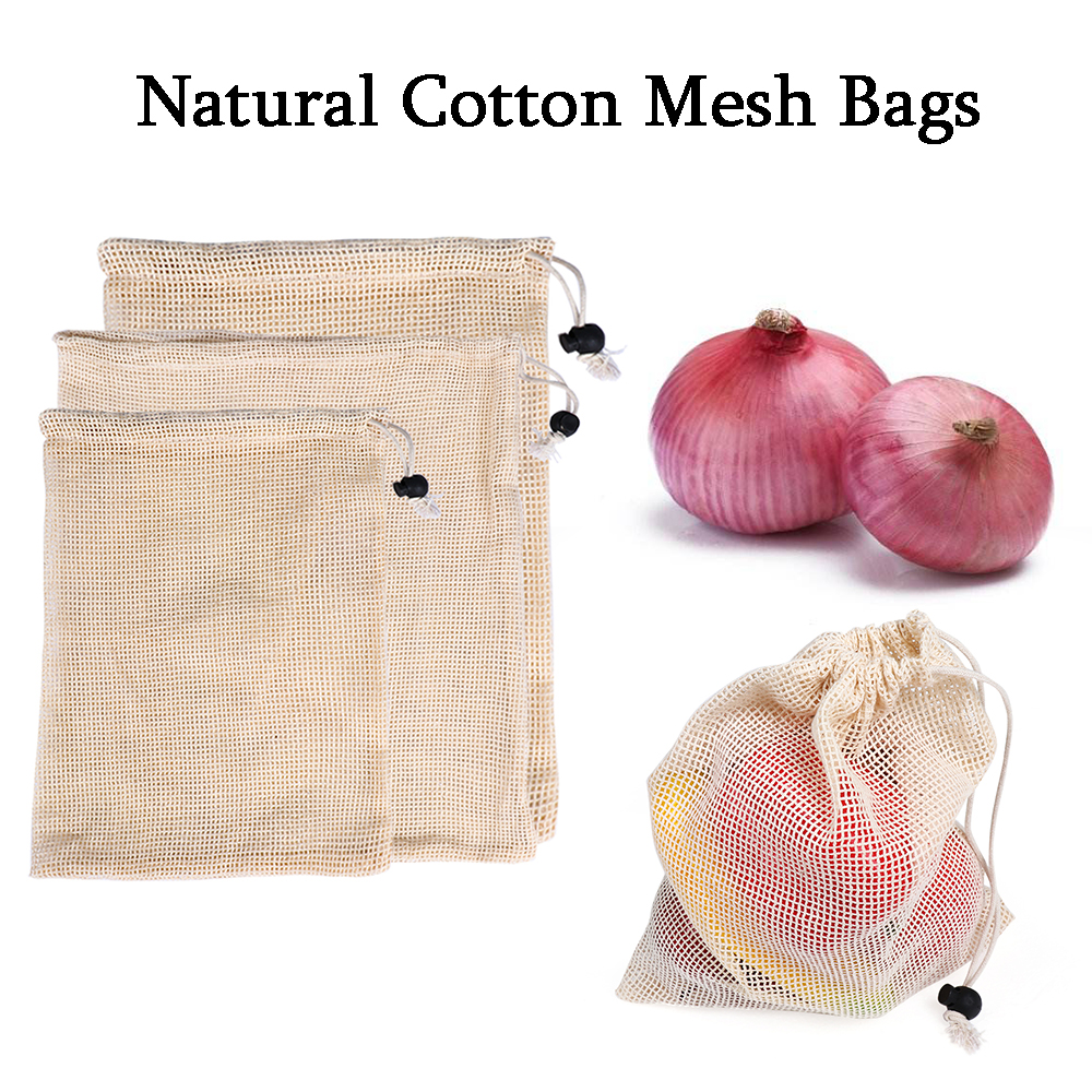 Kitchen Gadget Mesh Storage Pouch Vegetable Toys Pocket Fruit Grocery Bags