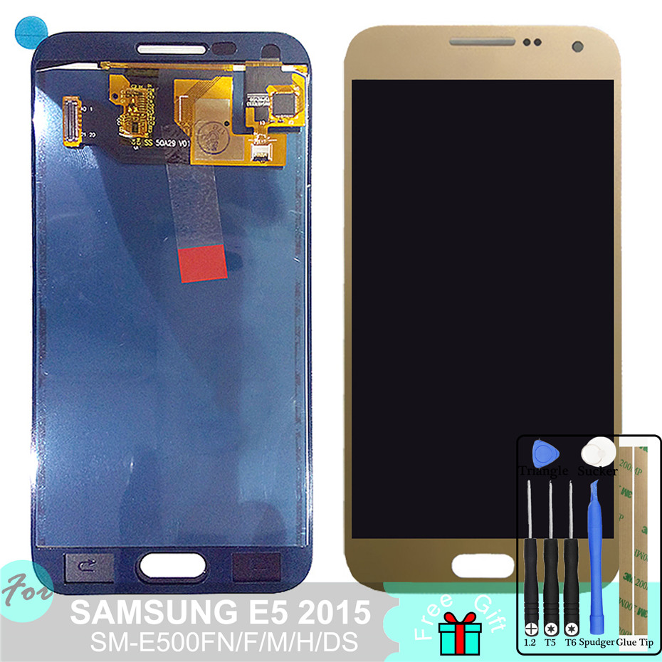 SM-E500FN/F/M/H/DS Für Samsung Galaxy E5 2015 <font><b>E500</b></font> <font><b>LCD</b></font> Display + Touch Screen e500H E500FN E500F E500M Bildschirm Einstellen Helligkeit image