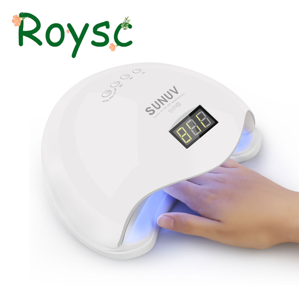 Sun5 UV Lamp 48W Nail Dryer Upgraded LED UV Lamp For Nail Art Dryer Gel Nail Polish Drying Manicure machine