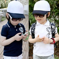 Free shipping!Hot sale 2015 Summer child clothes,baby boys t-shirt,Casual,Korean lapel boys clothing,Glasses printing,kids wear