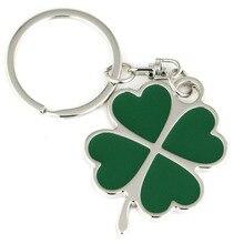 Брелок Клевер креативный зеленый цвет четырехлистный Фортуна брелок кольцо брелока брелок 86095