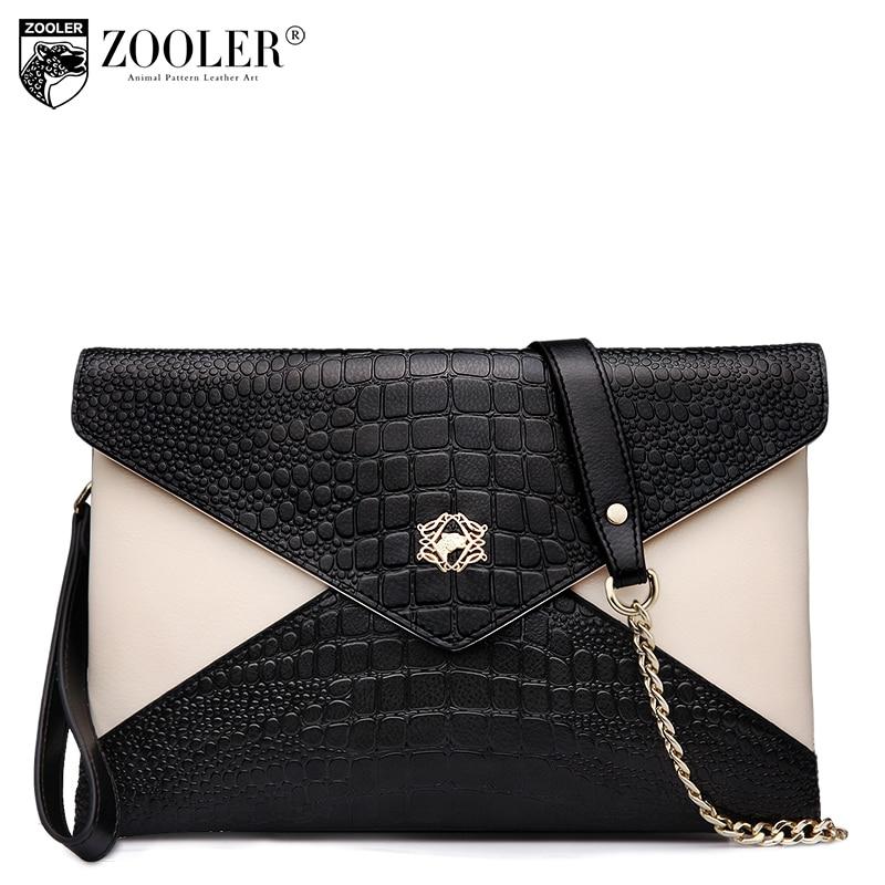 ФОТО ZOOLER Woman Bag 2017 Genuine Leather Small Crossbody Bag Female Alligator Envelope Chain Bags Bolsos Mujer Casual Fashion