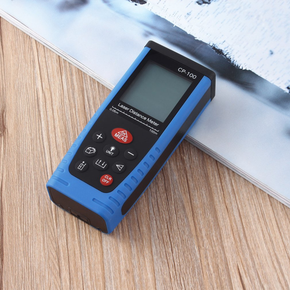 100 M (328ft) CP-100 Digital Laser Distance Meter Measure Range Finder Area Volume Laser rangefinders +Pouch