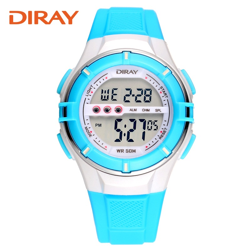 DIRAY Association genuine children watch the boys and girls waterproof electronic watches LED outdoor sports watch