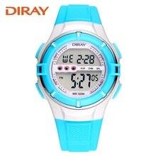 DIRAY Asociación genuino reloj de los niños los niños y niñas relojes electrónicos impermeables LED deportes al aire libre reloj alumnas