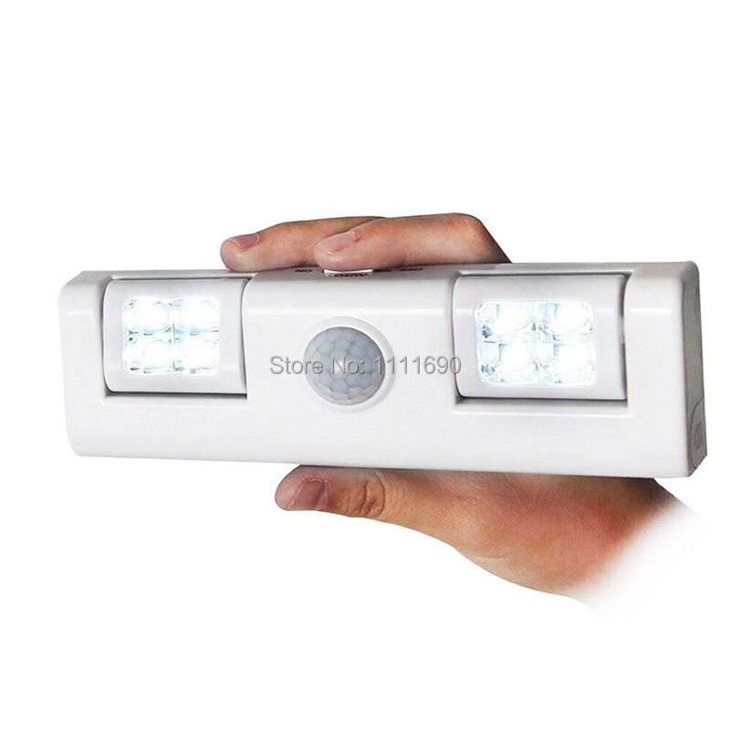Wireless Motion Sensor Light for Night Light Battery Operated Step Light for Cabinet Drawer Staircase Workshop Basement Garage