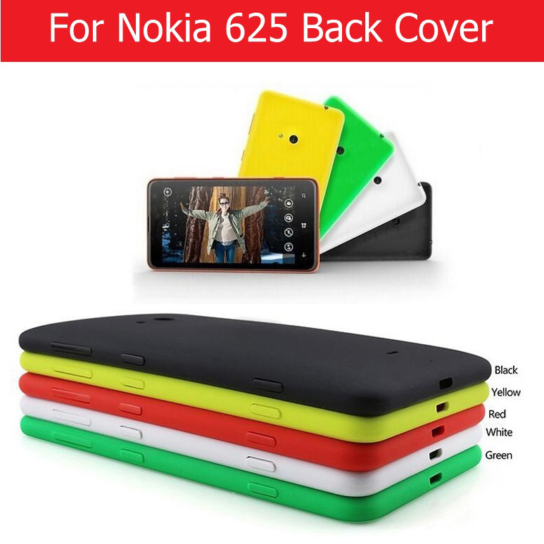 Genuine Rear Cover For Nokia 625 Back Battery Door Housing For Microsoft Lumia Nokia 625 Back Cover Case + 1pcs Screen Film Free