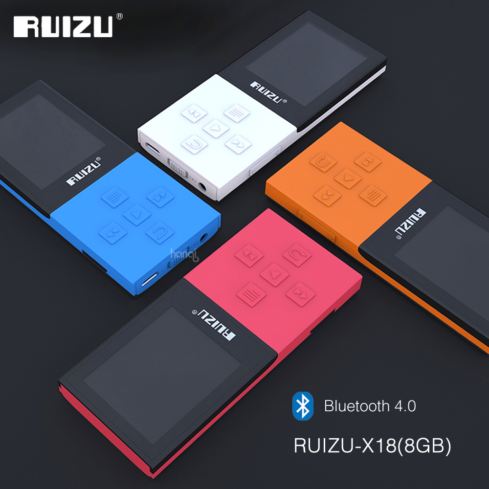 Original RUIZU X18 8G Bluetooth Sport MP3 Player Lossless Recorder FM Radio Bluetooth 4.0 Music Player Support 64G TF Card