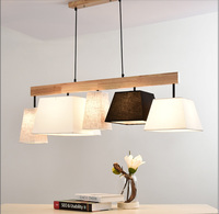LED Nordic Light Home Lighting Suspension Luminaire110 220v Wood Light Pendent Lamp E27 Country Style Lighting Pendant