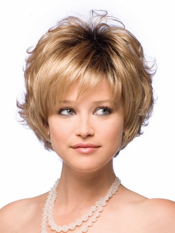 Women Peluca Short Haircuts Curly Wigs Peruca With Full Bangs For