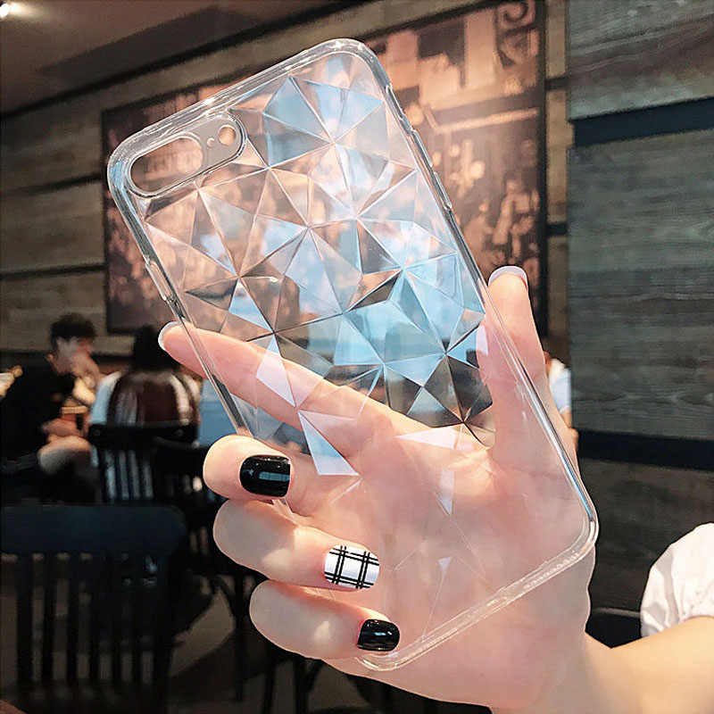 Silicone 3D Diamond Case For Huawei P Smart 2019 Mate 20 10 Lite P20 P30 Nova 4 3 3i On Honor 8X 8C 20 Pro 10 Y5 Y7 Y9 2019 Case