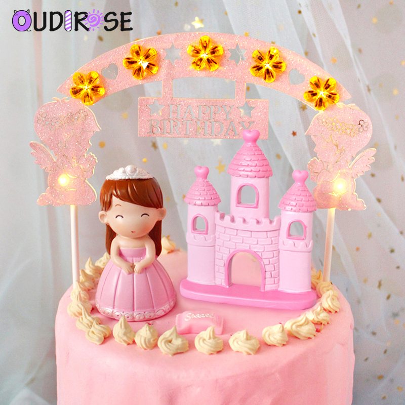 Swell Oudirose Led Angel Arch Cake Hat Bunting Happy Birthday Party Funny Birthday Cards Online Inifofree Goldxyz