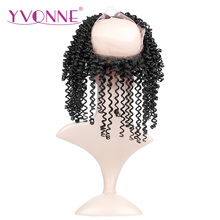 YVONNE 360 Lace Frontal Brazilian Kinky Curly Virgin Hair 12″-16″ Natural Color 100% Human Hair With Adjustment