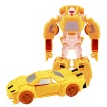 SLPF Transformation Deformation Robot Model Toys Manual Inertia Car Puzzle Action Figure Building Blocks Children Toy Gift C22