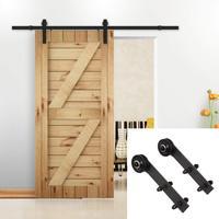 Rustic Black Steel Closet Doors Wood Sliding Barn Door Hardware Kit