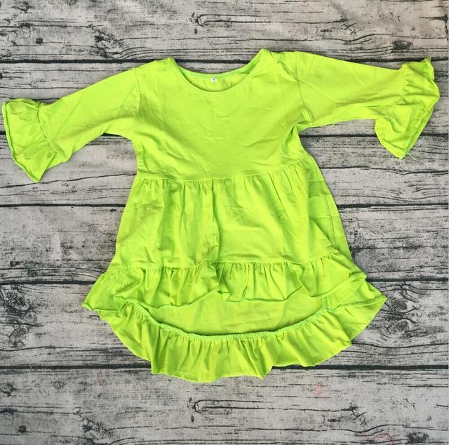 5b7bcb463 Cotton Ruffle Frock kids long Sleeve Baby Dress Blouse cute Party Wear