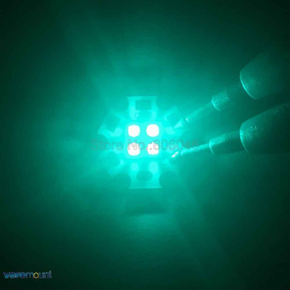 5 шт./лот 3 В/6 в/12 В Epi светодиодный s 3535 4 чипа 4-18 Вт голубой цвет высокой мощности Светодиодный излучатель 490nm с 20 мм медной печатной платой