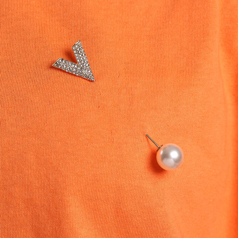 Crystal Rhinestone Ikatan Simpul Pearl Bros Wanita Elegan Kualitas Tinggi Perhiasan Kemeja Pakaian Pins Emas Warna Perak Bros Hadiah