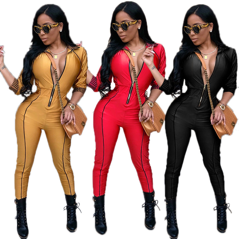 Sports-Suits Fitness-Wear Long-Sleeve Running-Set Yoga One-Piece Gym Zipper Gold Stylish