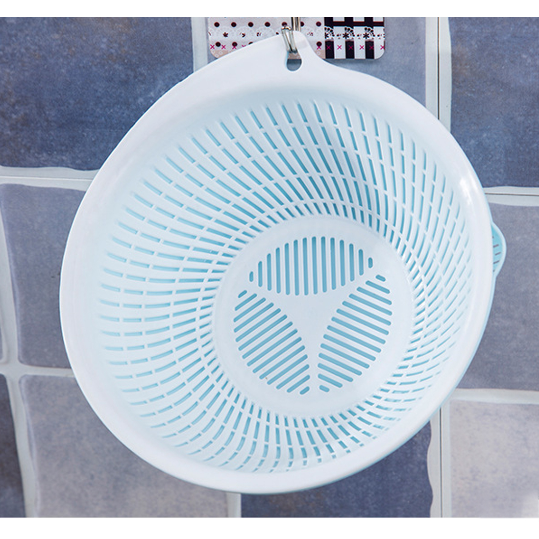 HIPSTEEN 3Pcs Round Plastic Kitchen Drain Basket Vegetables Fruit ...