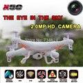 Syma x5c x5c-12.4g rc quadcopter drone com câmera de 2mp hd 2.4g 4ch zangão profissional voando câmera helicóptero de controle remoto