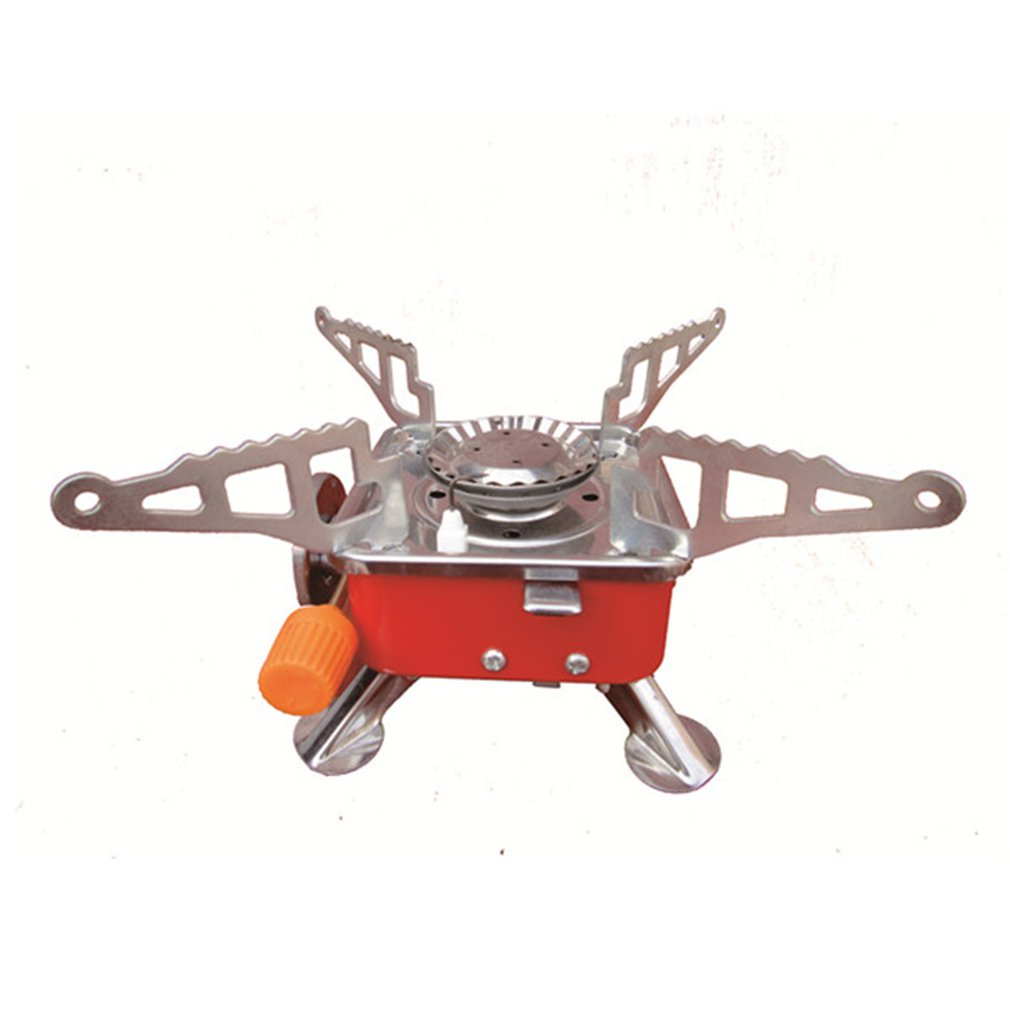 Portable Cassette Furnace Square Furnace Outdoor Long Gas Tank Interface Burner Windproof Induction Cooker