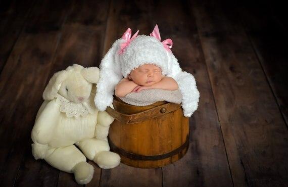 Baby Bunny Hut Neugeborenen Hase Hut Bunny Häkeln Neugeborenen Hut