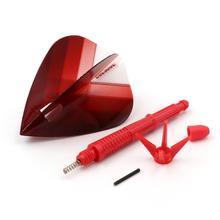 CUESOUL KOFF AK6 Dart Stem with Foldable Red Dart Flights Kite for Steel Tip Darts and Soft Tip Darts eva koff keerutädi