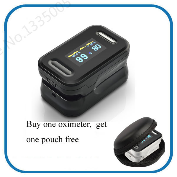 OLED Finger Blood Fulse Rate Monitor Fingertip Pulse Oximeter display pulsioximetro SPO2 PR oximetro de dedo with carrying case oled pulse finger fingertip oximeter blood spo2 pr heart rate monitor