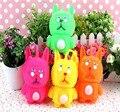 Muñecos de conejo bola de ventilación conejo encantador flash juguetes para los niños