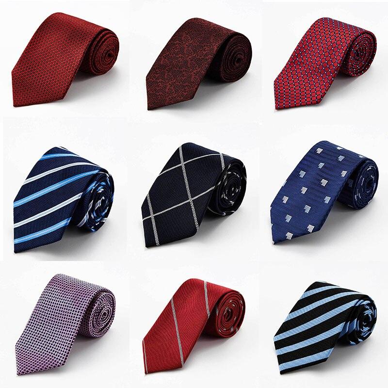 New Classic High Quality Man JACQUARD Woven Grid Formal Tie 100% Silk Men's Luxurious Necktie Tie Wedding Party