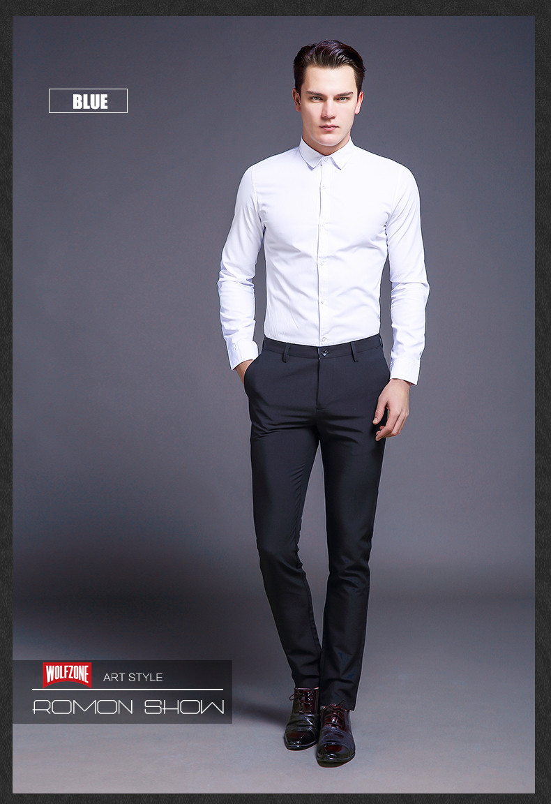 HTB1ZRXbhRDH8KJjSszcq6zDTFXaI Fashion New High Quality Cotton Men Pants Straight Spring and Summer Long Male Classic Business Casual Trousers Full Length Mid