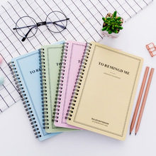 Concise A5 Spiral Binding 60 Page Notepad Coil Notebook Stationery Office School Supplies a5 a6 6holes heart hand account page notebook notebook agenda caderno escolar office school supplies