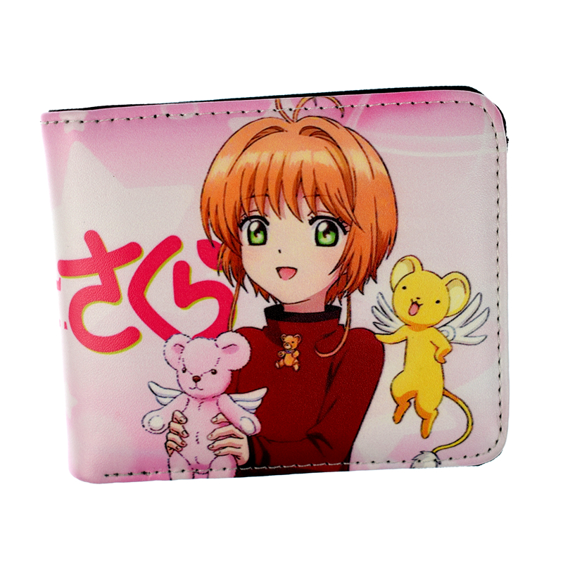 Free Shipping Anime Wallet Cardcaptor Sakura / Sward Art Online Girl Short Wallets Coin Purse lige men watches top brand fashion waterproof full steel business watch men calendar sport quartz wrist watch relojes hombre box