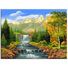 5D Diamond Embroidery Landscape Waterfall DIY Painting Mosaic Crafts Gifts Pattern Paintings Rhinestones