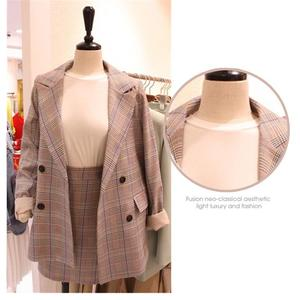 Inexpensive New Fashion Uniform Design Work Wear Suits With Jackets+Skirt Novelty Lattice Professional Office Uniforms For Business Women — wickedsick